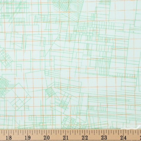 Carolyn Friedlander for Robert Kaufman, Collection CF, Blueprint Mint Fat Quarter