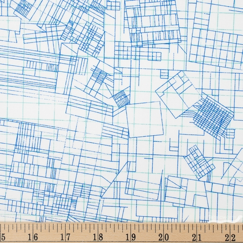 Carolyn Friedlander for Robert Kaufman, Collection CF, Blueprint Regatta Fat Quarter