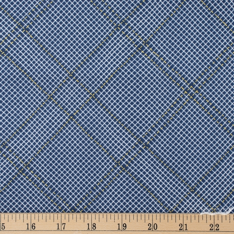 Carolyn Friedlander for Robert Kaufman, Collection CF, Diamond Grid Navy Metallic