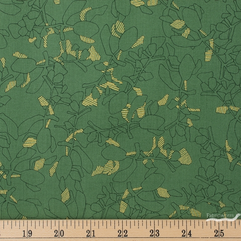 Carolyn Friedlander for Robert Kaufman, Collection CF, Succulent Moss Metallic Fat Quarter