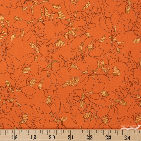 Carolyn Friedlander for Robert Kaufman, Collection CF, Succulent Orangeade Metallic Fat Quarter