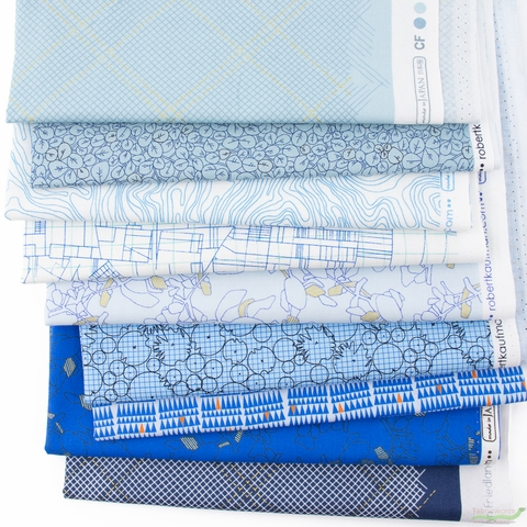 Carolyn Friedlander for Robert Kaufman, Collection CF, Waves in FAT QUARTERS 9 Total