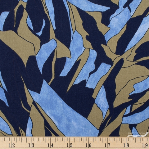 Carolyn Friedlander for Robert Kaufman, Jetty, Tree Shadow Navy