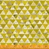 Carrie Bloomston for Windham, Wish, Collaged Triangles Olive Oil Metallic