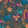 Carrie Bloomston for Windham, Wish Linen Cotton, Garden Of Dreams Midnight
