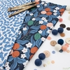 Cathy Nordstrom for FIGO, A Life in Pattern, Flower Toss Blue