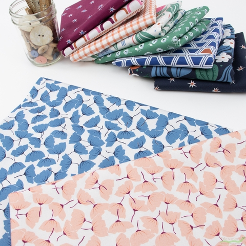 Cathy Nordstrom for FIGO, A Life in Pattern, Flower Toss Coral