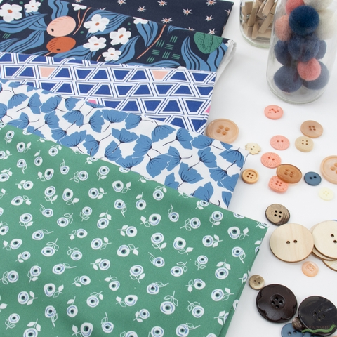 Cathy Nordstrom for FIGO, A Life in Pattern, Geo Blue Multi