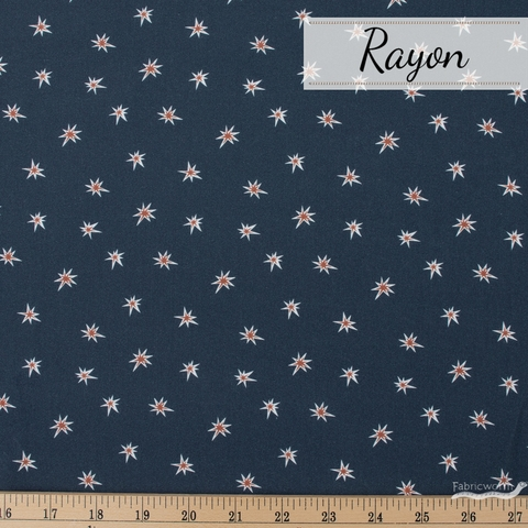 Cathy Nordstrom for FIGO, A Life in Pattern Rayon, Stars Navy