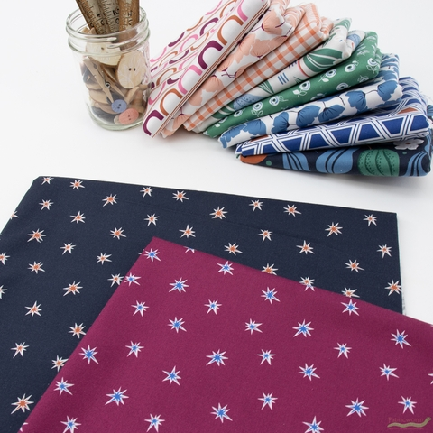 Cathy Nordstrom for FIGO, A Life in Pattern, Stars Navy