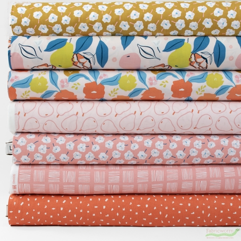 Cathy Nordstrom for FIGO, Rollakan, Pink in FAT QUARTERS 7 Total