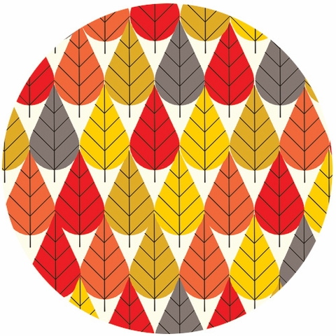 Charley Harper for Birch Fabrics Organic, CANVAS, Octoberama Fall