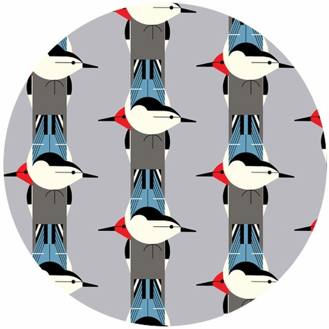 Charley Harper for Birch Fabrics Organic, CANVAS, Upside Downside