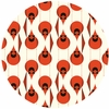 Charley Harper for Birch Fabrics Organic, KNIT, Cardinal Stagger