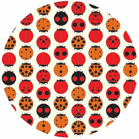 Charley Harper for Birch Fabrics Organic, Lady Bugs
