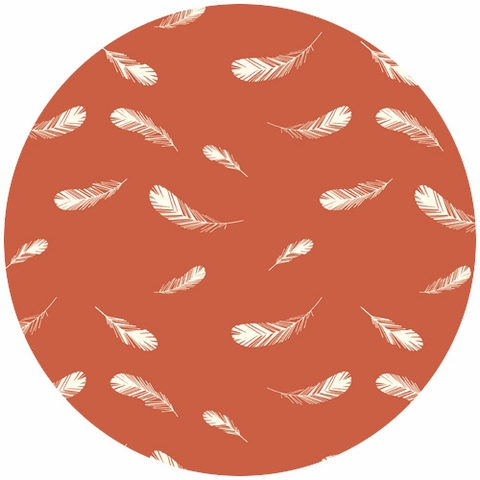 Charley Harper for Birch Fabrics Organic, Nurture, Feathers Coral