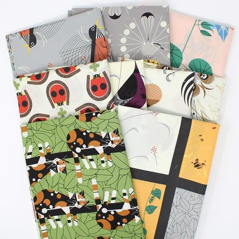 Charley Harper for Birch Organic Fabrics, Backyard, Backyard Dogs
