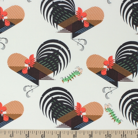 Charley Harper for Birch Organic Fabrics, Backyard, Crawling Tale
