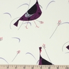 Charley Harper for Birch Organic Fabrics, Backyard, Moonbeam Turkeys