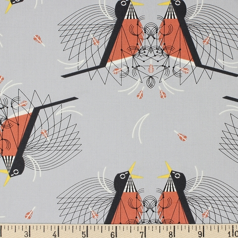 Charley Harper for Birch Organic Fabrics, Backyard, Round Robin