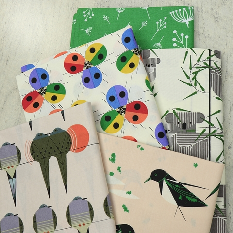 Charley Harper for Birch Organic Fabrics, Best of Charley Harper in HALF YARDS 14 Total
