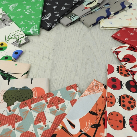 Charley Harper for Birch Organic Fabrics, Best of Charley Harper, Ladybug Rainbow