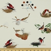 Charley Harper for Birch Organic Fabrics, BARKCLOTH, Bird Architects Main