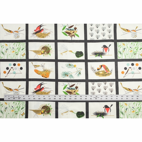 Charley Harper for Birch Organic Fabrics, Bird Architects, Bird Architects Patch
