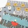 Charley Harper for Birch Organic Fabrics, Cats and Raccs, Cat Nip