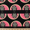 Charley Harper for Birch Organic Fabrics, Cats and Raccs, Watermelon Moon Fat Quarter