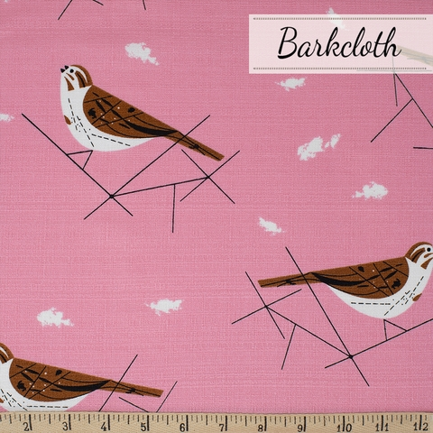Charley Harper for Birch Organic Fabrics, Charley Harper Barkcloth, Song Sparrow Fat Quarter