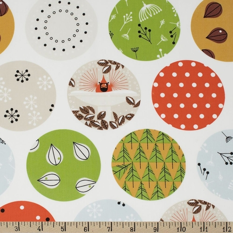 Charley Harper for Birch Organic Fabrics, Charley Harper Holiday, Ornaments Fat Quarter