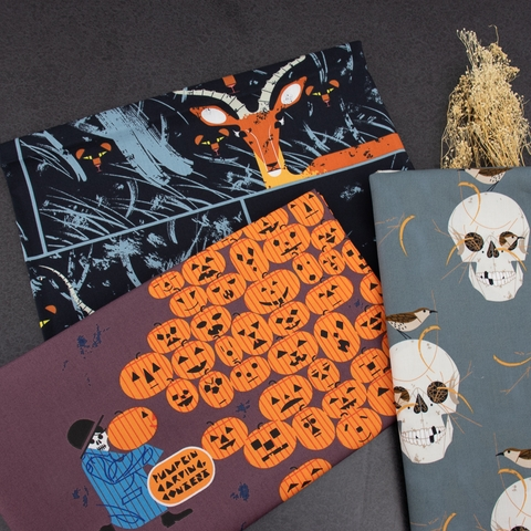 Charley Harper for Birch Organic Fabrics, Halloween, Night Gazelle