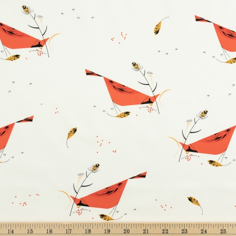 Charley Harper for Birch Organic Fabrics, Holidays 2020, Berry Feast