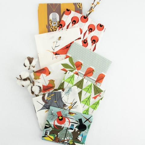 Charley Harper for Birch Organic Fabrics, Holidays 2020, Christmas Card