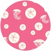 Charley Harper for Birch Organic Fabrics, Maritime, KNIT, Sand Dollar and Jelly Pink