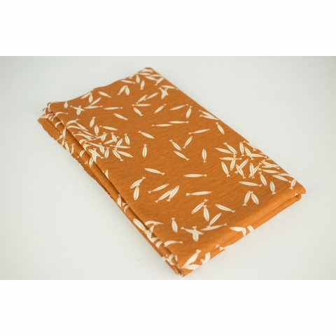 Charley Harper for Birch Organic Fabrics, Maritime, KNIT, School of Fish Orange
