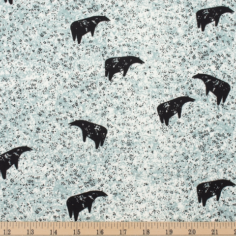 Charley Harper for Birch Organic Fabrics, New Frontier, Bear Grazing Fat Quarter