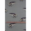 Charley Harper for Birch Organic Fabrics, Western Birds, CANVAS, Burrowing Owl