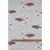 Charley Harper for Birch Organic Fabrics, Western Birds, DOUBLE GAUZE, Gray Crowned Rosy Finch