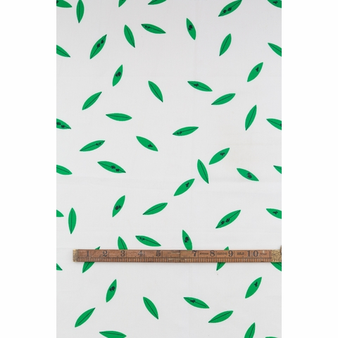 Charley Harper for Birch Organic Fabrics, Western Birds, DOUBLE GAUZE, Green Leaves