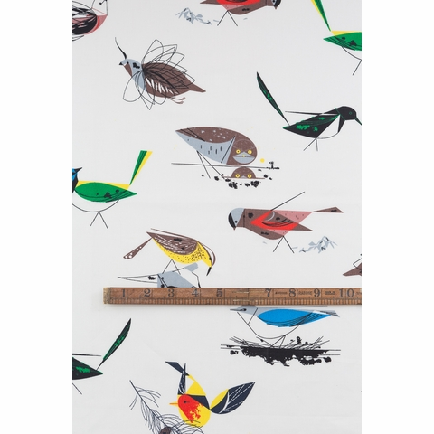 Charley Harper for Birch Organic Fabrics, Western Birds, DOUBLE GAUZE, Western Birds Main