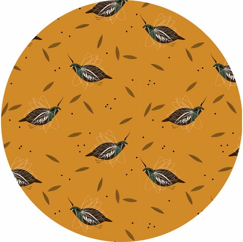 Charley Harper for Birch Organic Fabrics, Western Birds, Mountain Quail
