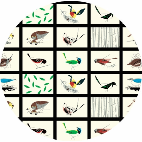 Charley Harper for Birch Organic Fabrics, Western Birds, Western Birds Patch