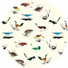 Charley Harper for Birch Organic Fabrics, Western Birds, WIDE WIDTH, Large Western Birds Main