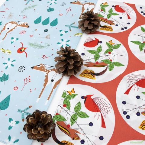 Charley Harper for Birch Organic Fabrics, Winter Wonderland, Good World