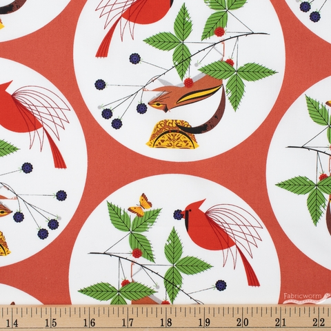 Charley Harper for Birch Organic Fabrics, Winter Wonderland, Good World Fat Quarter