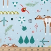 Charley Harper for Birch Organic Fabrics, Winter Wonderland, Winter Wonderland Main Fat Quarter