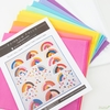 Cheery Rainbow Falls Quilt Kit Curated By Jamie of Sewbrainy (PRECUT)