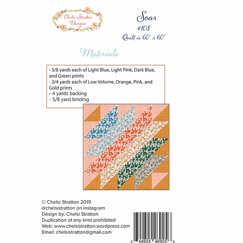 Chelsi Stratton Designs, Sewing Pattern, Soar Quilt